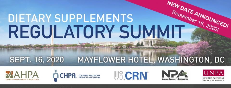 2020 Dietary Supplements Regulatory Summit - VIRTUAL